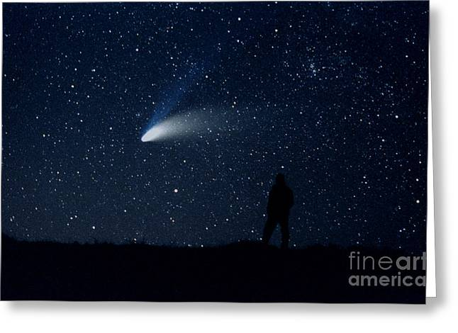 Hale-bopp Comet Greeting Card by John Chumack