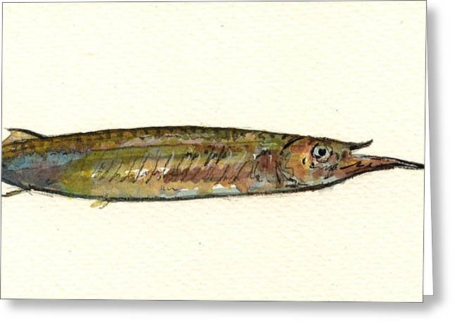 Halfbeak Fish Greeting Card