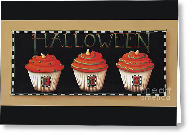 Halloween Cupcakes Greeting Card by Catherine Holman