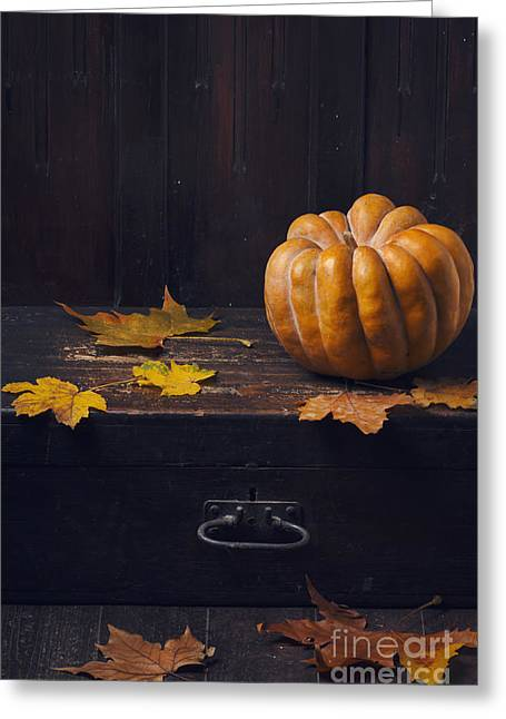 Halloween Pumpkin Greeting Card by Jelena Jovanovic