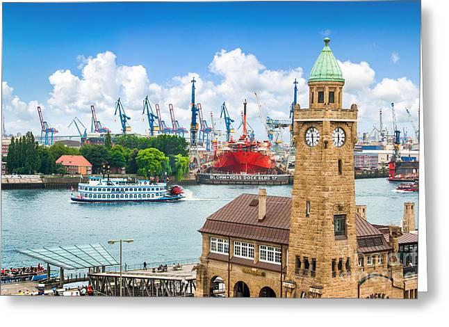 Hamburg Speicherstadt Greeting Card