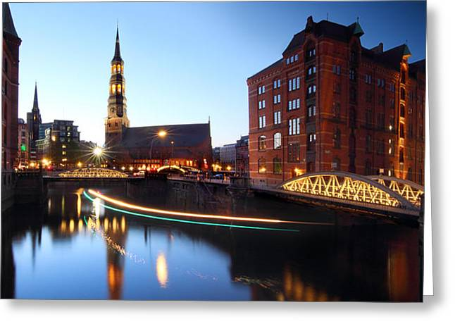 Hamburg Speicherstadt Greeting Card