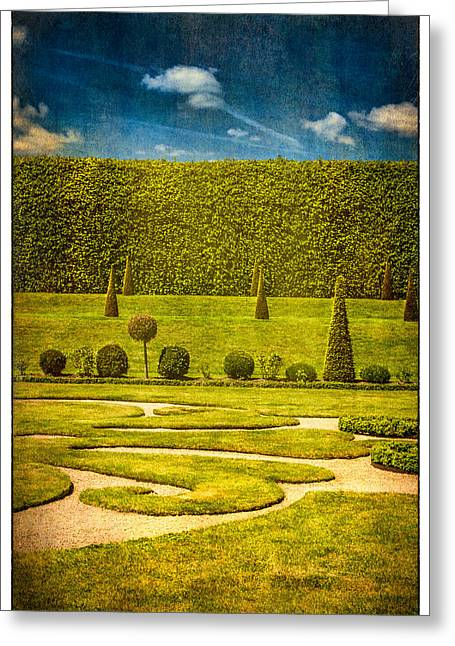 Hampton Court 'the Privy Garden Greeting Card by Lenny Carter