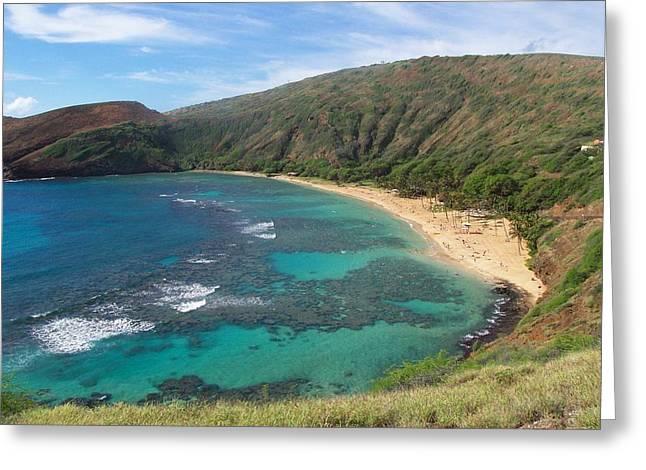 Hanauma Bay Oahu Hawaii Greeting Card by Kenneth Cole