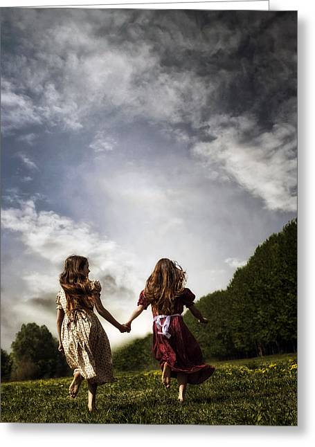 Hand In Hand Through Life Greeting Card by Joana Kruse