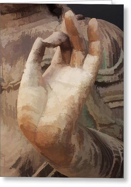 Hand Of Buddha C2014 Greeting Card by Paul Ashby
