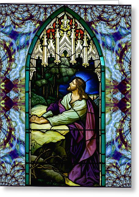 Handel Stained Glass Greeting Card by Robert Kernodle