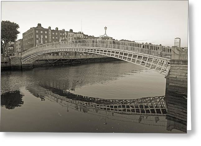 Ha'penny Bridge Dublin Ireland Greeting Card