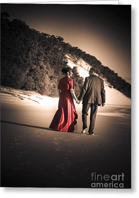 Happy Couple Greeting Card by Jorgo Photography - Wall Art Gallery