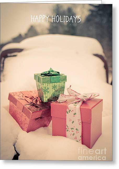 Happy Holidays Greeting Card by Edward Fielding