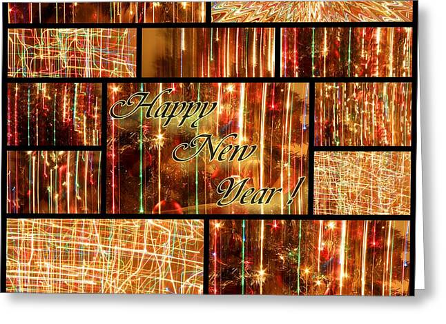 Happy New Year Collage  Greeting Card by Julia Fine Art And Photography