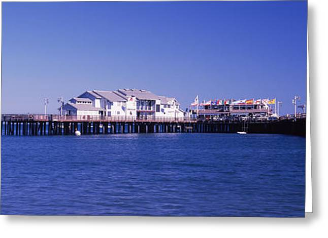 Harbor And Stearns Wharf, Santa Greeting Card by Panoramic Images