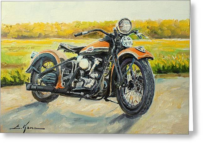 Harley Davidson 1946 Greeting Card