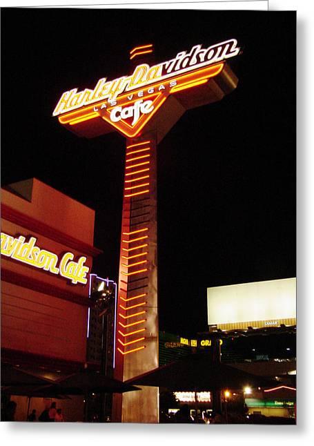 Harley Davidson Greeting Card by Mieczyslaw Rudek