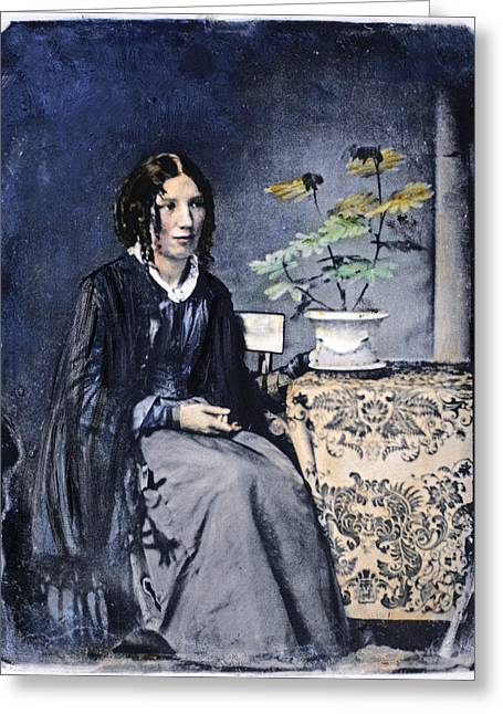 Harriet Beecher Stowe (1811-1896) Greeting Card by Granger