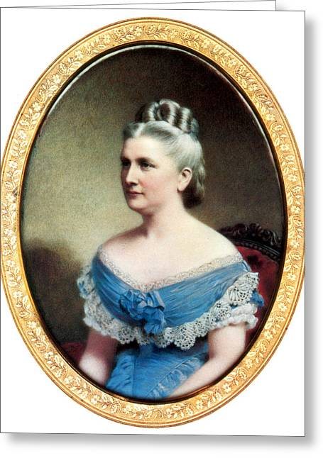 Harriet Lane, First Lady Greeting Card by Science Source