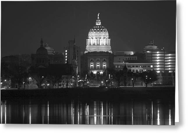 Harrisburg State Capital   # Greeting Card by Rob Luzier