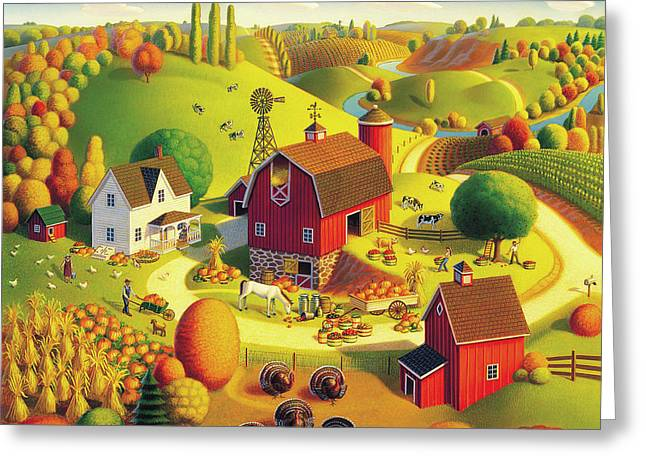 Harvest Bounty Greeting Card by Robin Moline