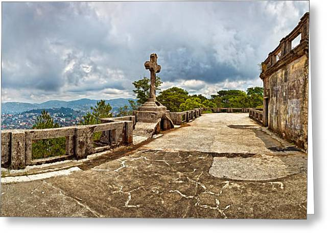 Haunted Diplomat Hotel, Baguio City Greeting Card by Panoramic Images