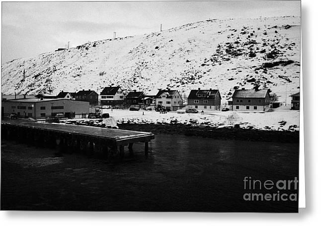 Havoysund Hurtigruten Pier Finnmark Norway Europe Greeting Card