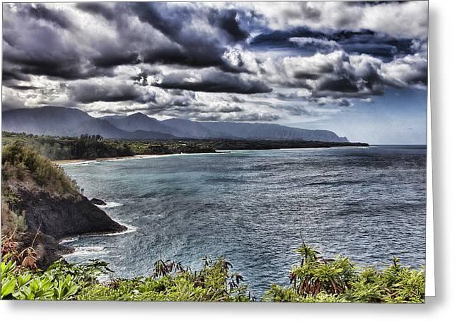 Hawaii Big Island Coastline V2 Greeting Card by Douglas Barnard