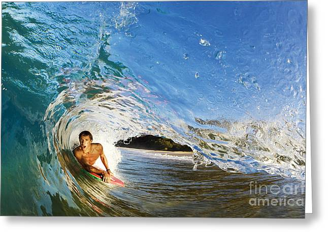 Makena Boogie Boarder Greeting Card