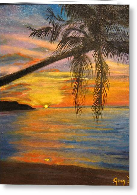 Hawaiian Sunset 11 Greeting Card