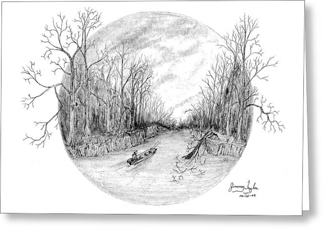Heading Down The Creek Greeting Card by Jimmy Taylor