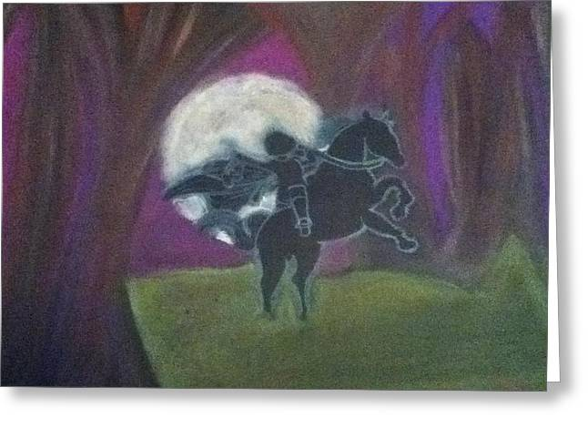 Headless Horseman  Greeting Card by Kae Mangan