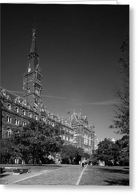 Healy Hall On The Campus Of Georgetown University Greeting Card
