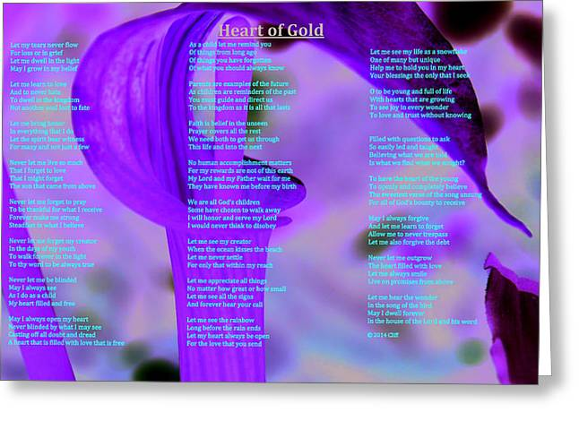 Heart Of Gold Greeting Card by Cliff Ball