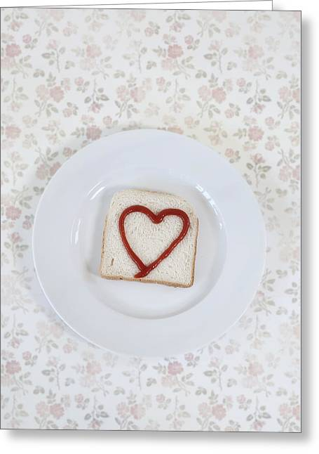 Hearty Toast Greeting Card by Joana Kruse