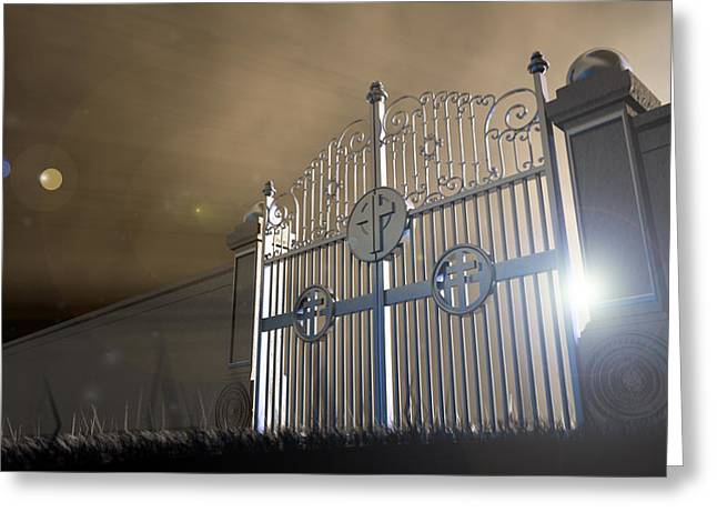 Heavens Open Gates Greeting Card by Allan Swart