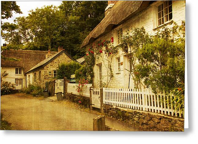 Helford Cottages Greeting Card by Brian Roscorla