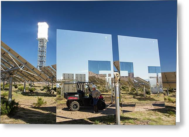 Heliostats At The Ivanpah Solar Greeting Card