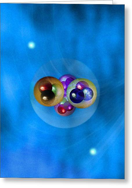 Helium Atom, Conceptual Model Greeting Card