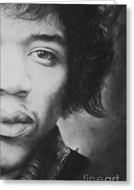 Hendrix Greeting Card by Adrian Pickett