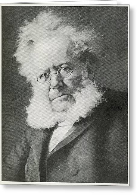 Henrik Ibsen Greeting Card by British Library