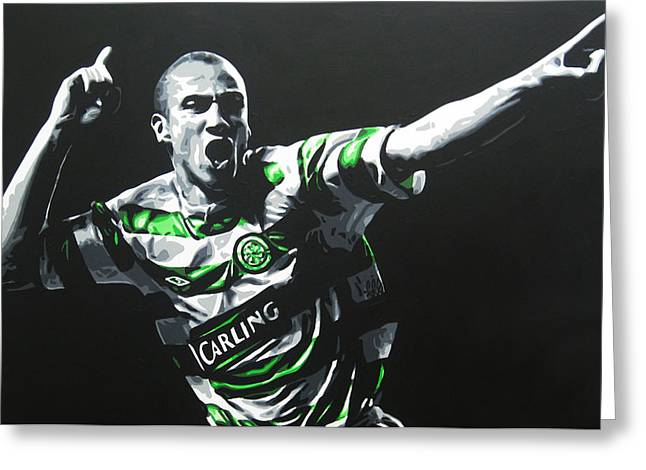 Henrik Larsson - Celtic Fc Greeting Card