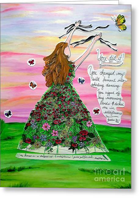 Her Name Is Wildflower Greeting Card by Michelle Bentham