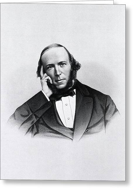 Herbert Spencer Greeting Card by National Library Of Medicine