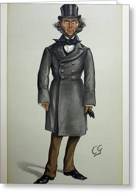 Herbert Spencer Greeting Card by Paul D Stewart