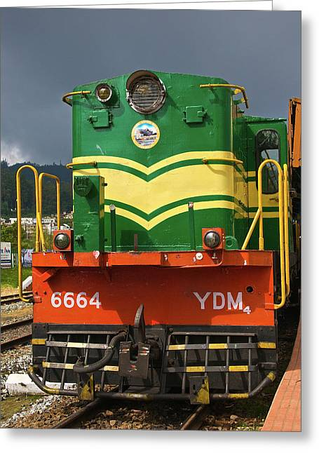 Heritage Steam Train, Udagamandalam Greeting Card by Connie Bransilver