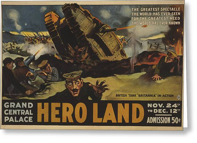 Hero Land Poster Greeting Card
