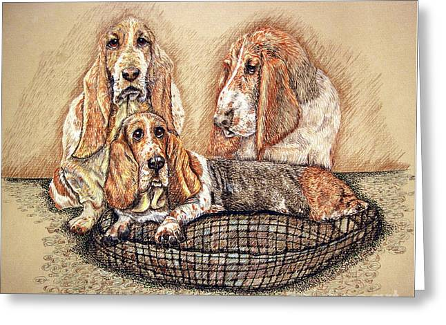 Hess'er Puppies Greeting Card