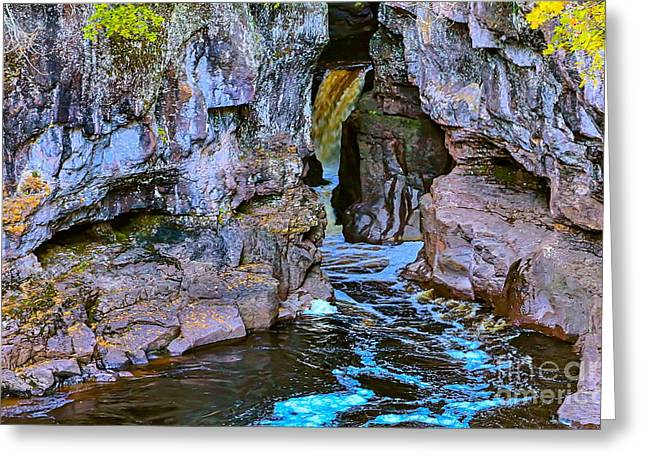 Hidden Falls Greeting Card by Bryan Benson