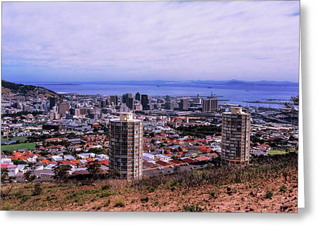 High Angle View Of A City, Disa Park Greeting Card by Panoramic Images