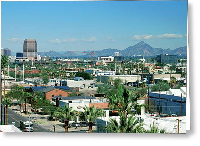 High Angle View Of A City, Phoenix Greeting Card