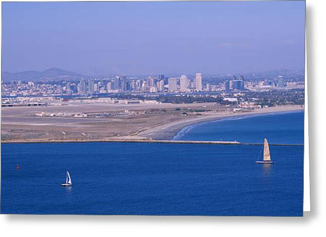 High Angle View Of A Coastline Greeting Card by Panoramic Images