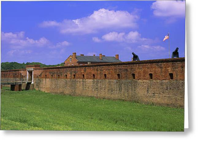 High Angle View Of A Fort, Fort Clinch Greeting Card by Panoramic Images